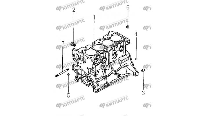Заглушки блока цилиндров BYD F3 (F3R)