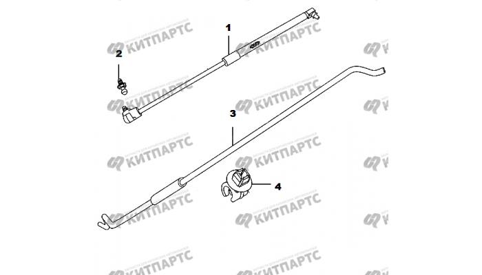 Упор капота Амортизатор крышки багажника Chery Amulet (A15)