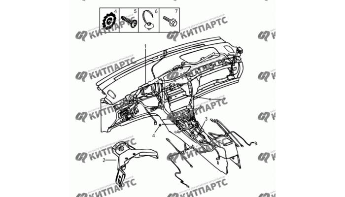 Жгут проводов приборной панели Dong Feng S30