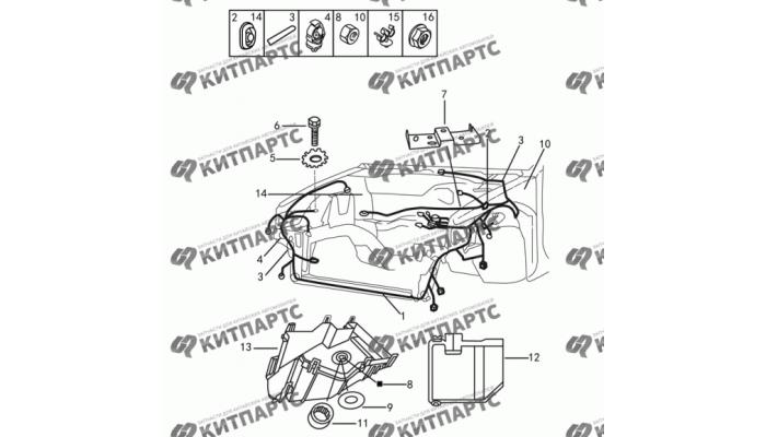 Жгут проводов моторного отсека Dong Feng S30