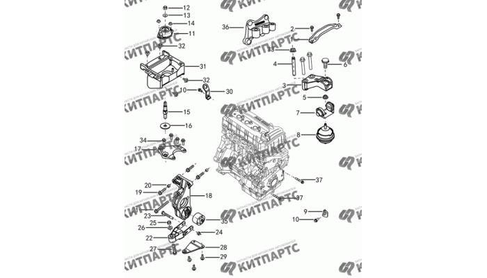 Подвеска двигателя с АКПП Dong Feng H30 Cross