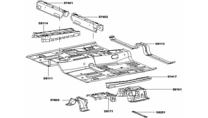 Панель пола (передняя часть) FAW V5