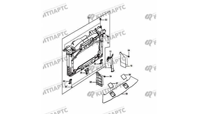Панель радиатора FAW Besturn X80