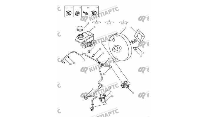 Цилиндр главный тормозной (4G20, 4G24, АКПП) Geely Emgrand EX7