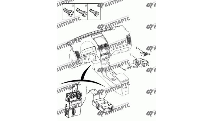 Блок кузовной электроники (седан) Geely Emgrand (EC7)