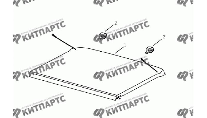 Панель багажника (хетчбэк) Geely Emgrand (EC7)