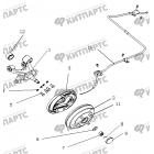 Тормоз задний левый (Барабанный, с ABS)