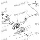 Тормоз задний правый (Барабанный, с ABS)